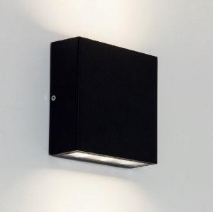 LED-Wandleuchte Elis eckig Up & Downlight, in Schwarz , schwarz