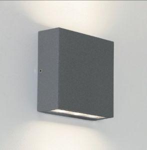 LED-Wandleuchte Elis eckig Up & Downlight, in Silber lackiert 6x 1 Watt, silber