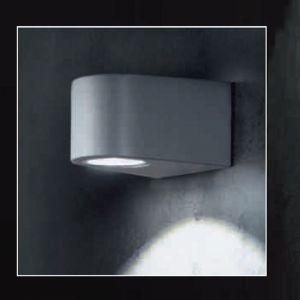 LED-Wandleuchte für den Außenbereich, Anthrazit, Downlight