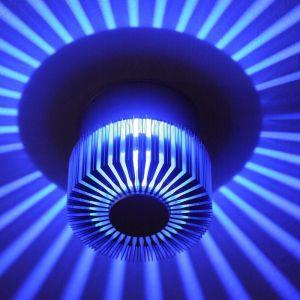 LHG LED-Wandleuchte für den Innen- und Außenbereich, blaue LEDs
