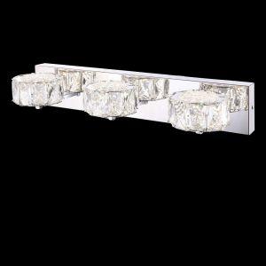 LED-Wandleuchte mit klaren Kristallen 8W 3-flammig
