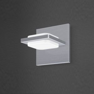 LHG LED-Wandleuchte in Nickel-matt, Arcyl weiß