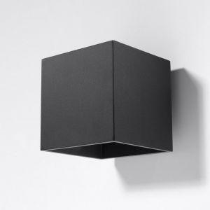 LHG LED-Wandleuchte Quad in schwarz mit LED 5W