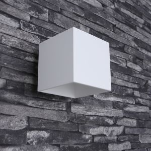 LHG LED-Wandleuchte Quad 1 Aluminium weiß