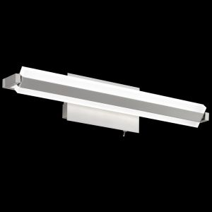 LED-Wandleuchte Turn, Nickelmatt, 46 cm