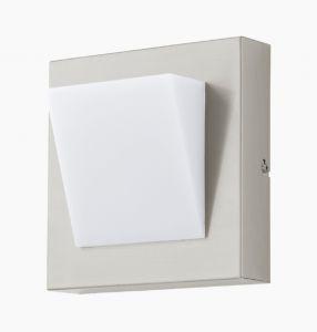 LED-Wandleuchte, Edelstahl mit Kunststoffabdeckung, 20x20cm