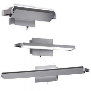 LED-Wandleuchte, schwenkbar, Direktschalter, 3 Längen