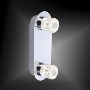 LED-Wand- oder Deckenleuchte in Chrom - IP44 - inklusive 2x 6W LED