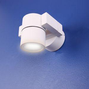 LHG LED-Wandspot schwenkbar, Aluminium weiß matt