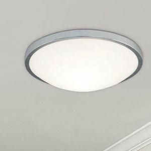 LED-Wand- und Deckenleuchte rund, Metall Silber, Glas, 3 Größen