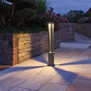 LHG LED-Wegeleuchte 10W in grau + Gratis Spannungsprüfer