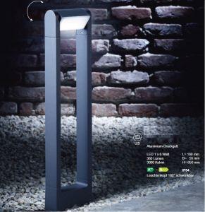 LED-Wegeleuchte aus Alu-guss mit schwenkbarem Reflektor