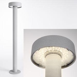 LHG LED-Wegeleuchte aus Aluminiumdruckguss in Silbergrau, LED 48 x 0,1 Watt warmweiß