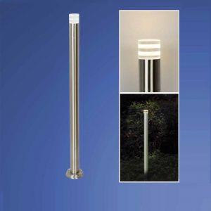 LED-Wegeleuchte Edelstahl, Höhe 105 cm