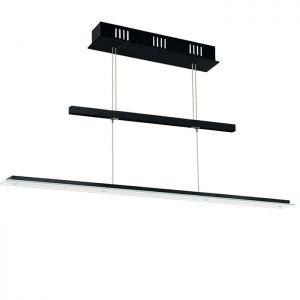 LED-Zugpendelleuchte schwarz, Glas satiniert, LED 5 x 4,76W