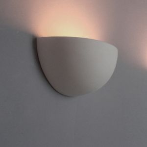Leuchte aus Gips,  Ø 31cm