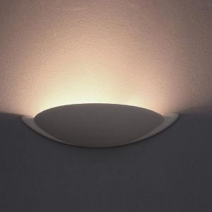 Leuchte Saturn Gips weiß natur  Breite 38,6cm