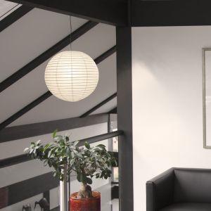 LHG Leuchtenpendel Aufhängung in Grau Japankugel in Weiß - 3 Größen