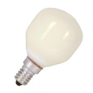 Leuchtmittel D45 Tropfen opal weiß  25W  E14