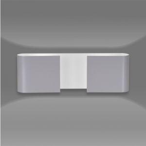 LHG Up & Downlight rund, halboffen Wandleuchte Elin grau, modern, Licht nach oben & unten, inkl. 5W LED