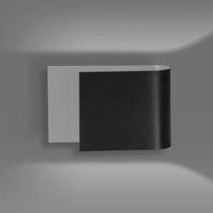 LHG Up & Downlight rund, offen Wandleuchte Eina schwarz, modern, Licht nach oben & unten, inkl. 5W LED