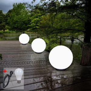 LHG 3er-Set Kugelleuchten 2x 30 und 1x 50 cm inkl. Kabel und LED