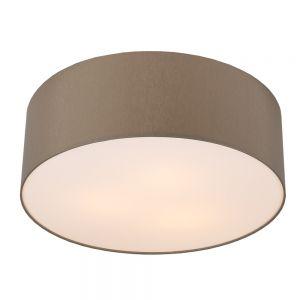 LHG Chintz-Stoff Deckenleuchte mit Lampenschirm Ø62cm Grau-braun , braun/grau