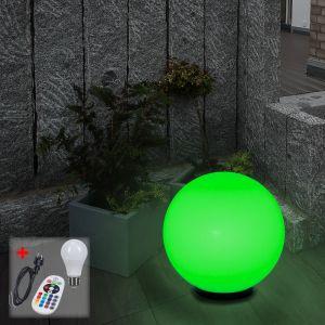 LHG Kugelleuchte Ø 50 cm mit Kabel und LED-RGB-Leuchtmittel
