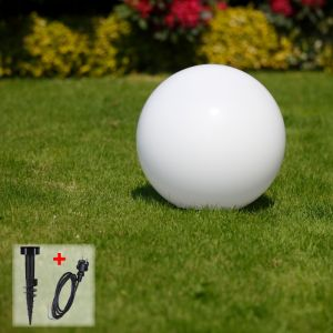 LHG Kugelleuchte, Gartenlampe, D = 25 cm, mit Erdspieß, dekorativ