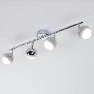 LHG LED-Strahlerserie - Deckenstrahler - 4-flammig - Chrom chrom, Chrom/glänzend