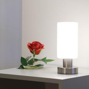 LHG LED-Tischleuchte - Nickel-matt, Opalglas
