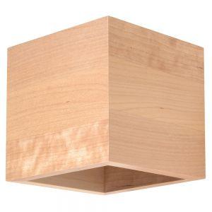 LHG Wandleuchte, Up & Down, eckig, würfelförmig, Holz, inkl. LED warmweiß