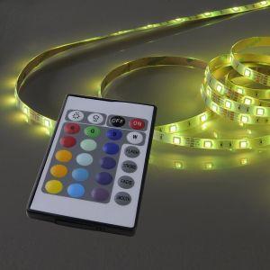 Lichtstreifen, 3m-Rolle 1xLED-Board, 16,2W RGB IP20, mit Fernbedienung, individuell kürzbar