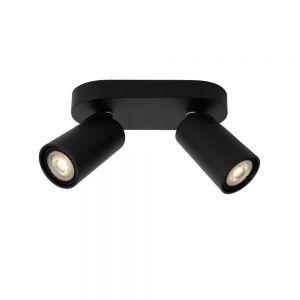 Lucide 2-flammiger Strahler Xyrus in schwarz schwarz