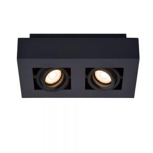 Lucide Deckenstrahler Xirax schwarz, 2-flammig 25,00 cm, 14,00 cm