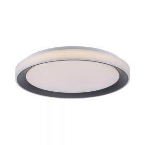MEDION LIFE+ CCT-LED runde Deckenleuchte 24W mit RGB Fernbedienung Smarthome, schwarz weiß