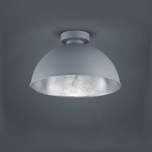 Moderne Deckenleuchte im Retro Design - grau/silber grau/silber