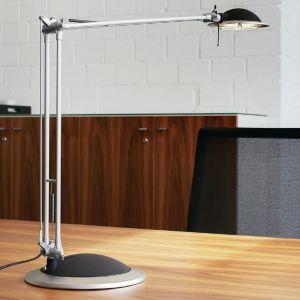 Moderne Halogen-Schreibtischleuchte - Aluminium - Silber