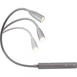 Moderne LED Leseleuchte mit Flexarm und Ein-/Ausschalter im Leuchtenkopf warmweiss