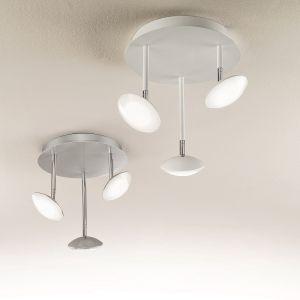Moderne LED-Deckenleuchte - 3-flg -  Alu-gebürstet oder Weiß