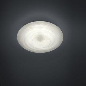 Moderne LED-Deckenleuchte - Glas alabasterfarbig Weiß - Dimmbar - 32 cm Durchmesser - Inklusive LED 20 Watt 1720 Lumen 1x 20 Watt, 32,00 cm