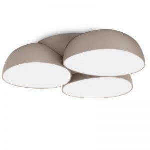 Moderne LED-Deckenleuchte - Kunststoff - 9 x 2,5 Watt  1650 Lumen - Hellgrau