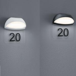 Moderne LED-Hausnummernleuchte Muga in 2 Farben