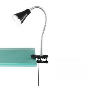 Moderne LED-Klemmleuchte für den Schreibtisch - aus Kunststoff - inklusive LEDs - in schwarz schwarz