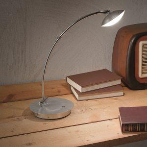 Moderne LED-Tischleuchte, Touchdimmer - Alu-gebürstet oder Weiß
