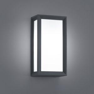 Moderne LED-Wandleuchte für Außen - Aluminium - Kunststoff - Anthrazit