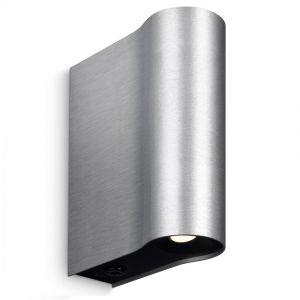 Moderne LED-Wandleuchte - Aluminium - Aluminiumfarbig