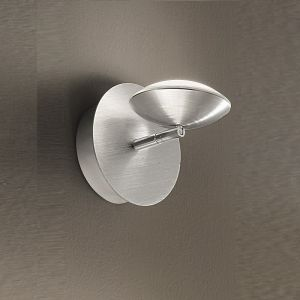 Moderne LED-Wandleuchte, schwenkbar - Alu-gebürstet aluminiumfarben, gebürstet