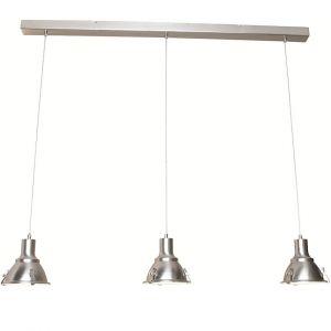 Moderne Pendelleuchte, 3-flammig, Stahl, Glas