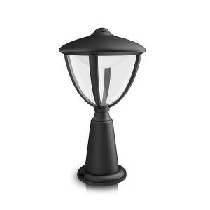 Moderne Sockelleuchte für den Außenbereich - LED - Aluminium - Kunststoff - Schwarz 1x 4,5 Watt, schwarz